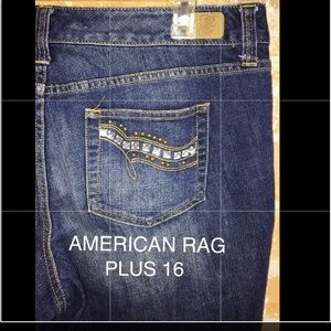 Cropped Jeans By American Rag Plus 16 NWOT